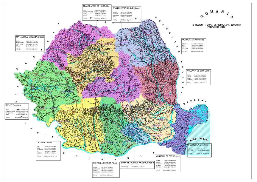 Cum ar arăta România în viziunea PNL Olteniţa, după împărțirea în regiuni