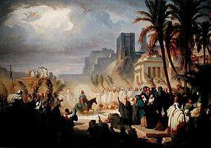 """""""Intrarea în Ierusalim"""", de Felix Louis Leullier"""