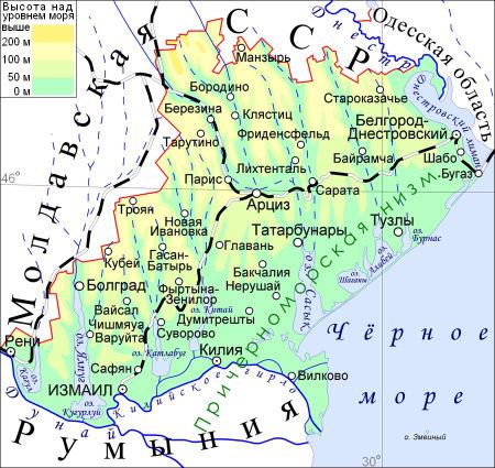 Regiunea Ismail harta rusa
