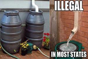 Colectarea apei de ploaie ilegala în unele state american