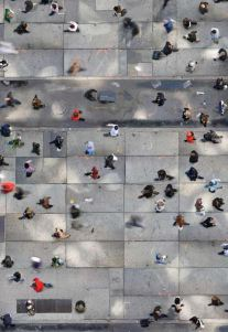 Graphic Overhead Photos of People in Public Places From NYC to Tehran | Feature Shoot -