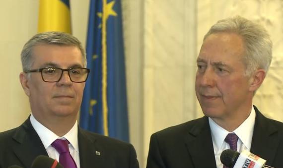 Hans Klemm, ambasadorul american, si Valeriu Zgonea, presedintele Camerei Deputatilor